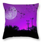 Sundown Fantasy - Violet Throw Pillow
