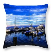Sundown In Sag Harbor Throw Pillow