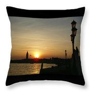 Sundown In Venice Throw Pillow