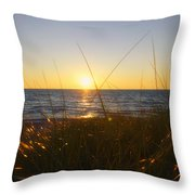 Sundown Jogging Throw Pillow