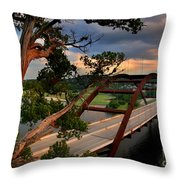Sundown On Pennybacker 360 Throw Pillow