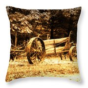 Sundown On The Honey Dew Wagon Throw Pillow