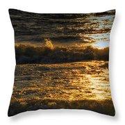 Sundown On The Waves Throw Pillow