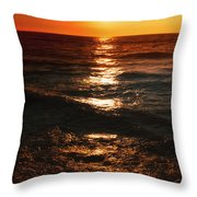 Sundown Reflections On Lake Michigan  01 Throw Pillow