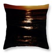Sundown Reflections On Lake Michigan 02 Throw Pillow