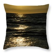 Sundown Reflections On The Waves Throw Pillow