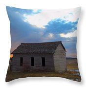 Sundown School 2 Throw Pillow
