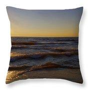 Sundown Scintillate On The Waves Throw Pillow