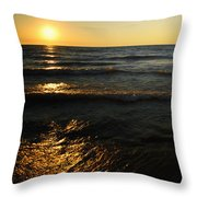 Sundown Shimmer Throw Pillow