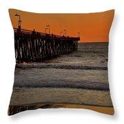 Sundown Surfing Throw Pillow