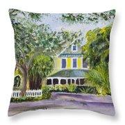 Sundy House In Delray Beach Throw Pillow