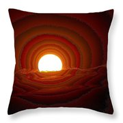 Sunfall Behind The Mountains Throw Pillow