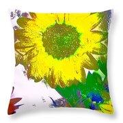 Sunflower 30 Throw Pillow