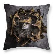 Sunflower Abstract Square Throw Pillow