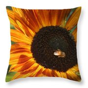 Sunflower And Bee-4041 Throw Pillow