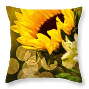 Sunflower And The Lights Throw Pillow