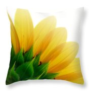 Sunflower Backside Throw Pillow
