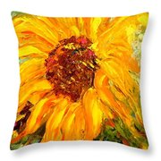 Sunflower Throw Pillow by Barbara Pirkle