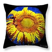 Sunflower Baseball Square Throw Pillow