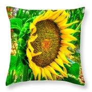 Sunflower Bloom Throw Pillow
