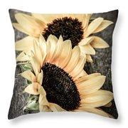 Sunflower Blossoms Throw Pillow