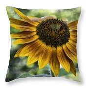 Sunflower Bokeh Throw Pillow