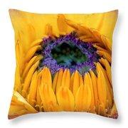 Sunflower Center Throw Pillow