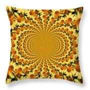 Sunflower Dance Throw Pillow