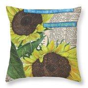 Sunflower Dictionary 2 Throw Pillow