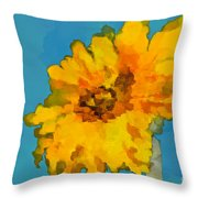 Sunflower Illusion Throw Pillow
