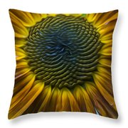 Sunflower In Rain Throw Pillow