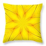 Sunflower Kaleidoscope 1 Throw Pillow