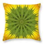 Sunflower Kaleidoscope 3 Throw Pillow