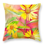 Sunflower Throw Pillow by Kelly Perez