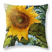 Sunflower Light Throw Pillow