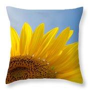 Sunflower Looking Up Throw Pillow