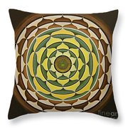 Sunflower Mandala Throw Pillow