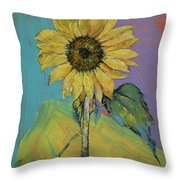 Sunflower Throw Pillow by Michael Creese
