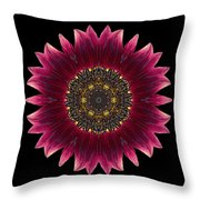 Sunflower Moulin Rouge I Flower Mandala Throw Pillow
