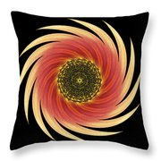 Sunflower Moulin Rouge Vii Flower Mandala Throw Pillow