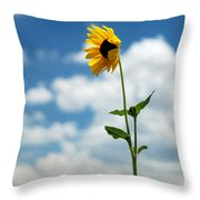 Sunflower On Route 66 Throw Pillow