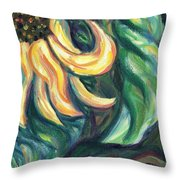 Sunflower One Panel Four Of Four Throw Pillow
