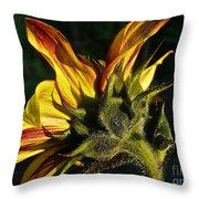 Sunflower Profile Throw Pillow