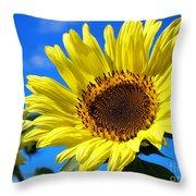 Sunflower Reaching For The Sun Throw Pillow