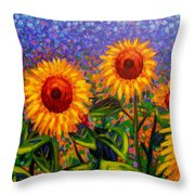 Sunflower Scape Throw Pillow