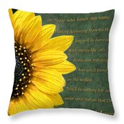 Sunflower Scripture Throw Pillow