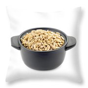 Sunflower Seeds In A Black Cup Throw Pillow