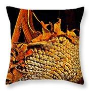 Sunflower Seeds In Oils Throw Pillow