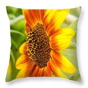 Sunflower Side Portrait Throw Pillow