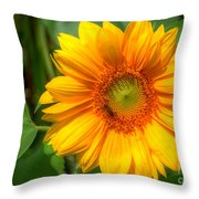 Sunflower Smile Throw Pillow